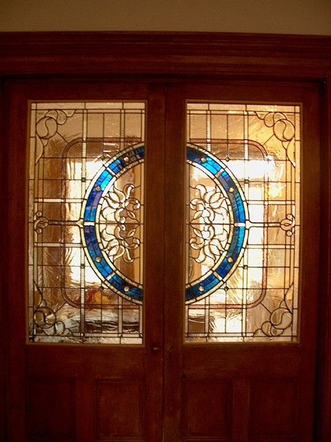 Custom Made Stained Glass Door Panels Residence By