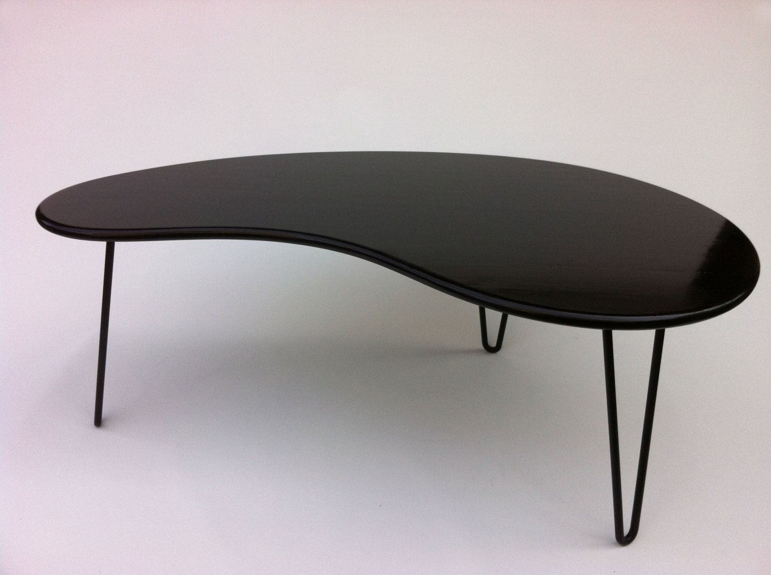 Buy a hand crafted black mid century modern coffee table for Buy modern coffee table