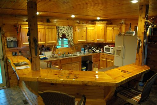 Custom Made Rustic Cabinets, Slab Tables, Live Edge Tables And Bartops