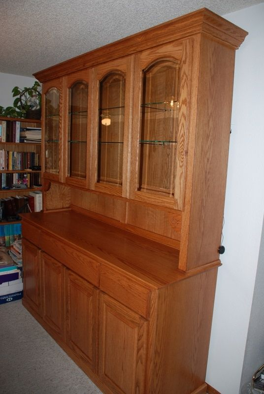 Hand Made Oak China Hutch By Daniel Cabinets Custommade Com