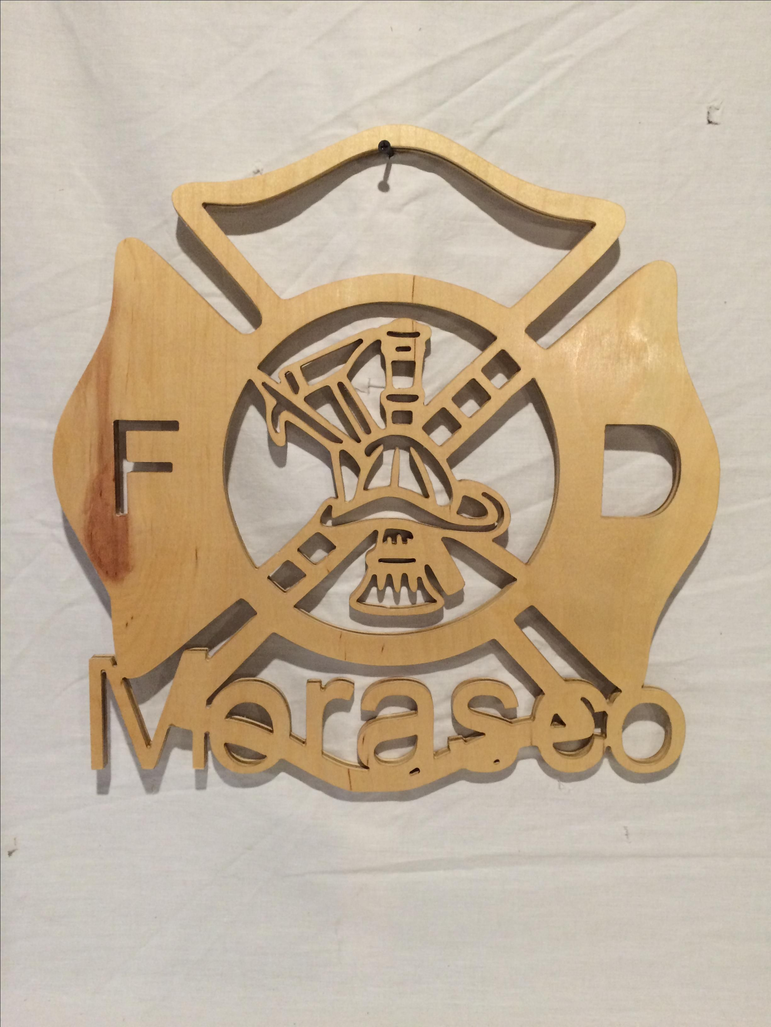 Buy A Custom Maltese Cross Wood Cut Out With Your Name