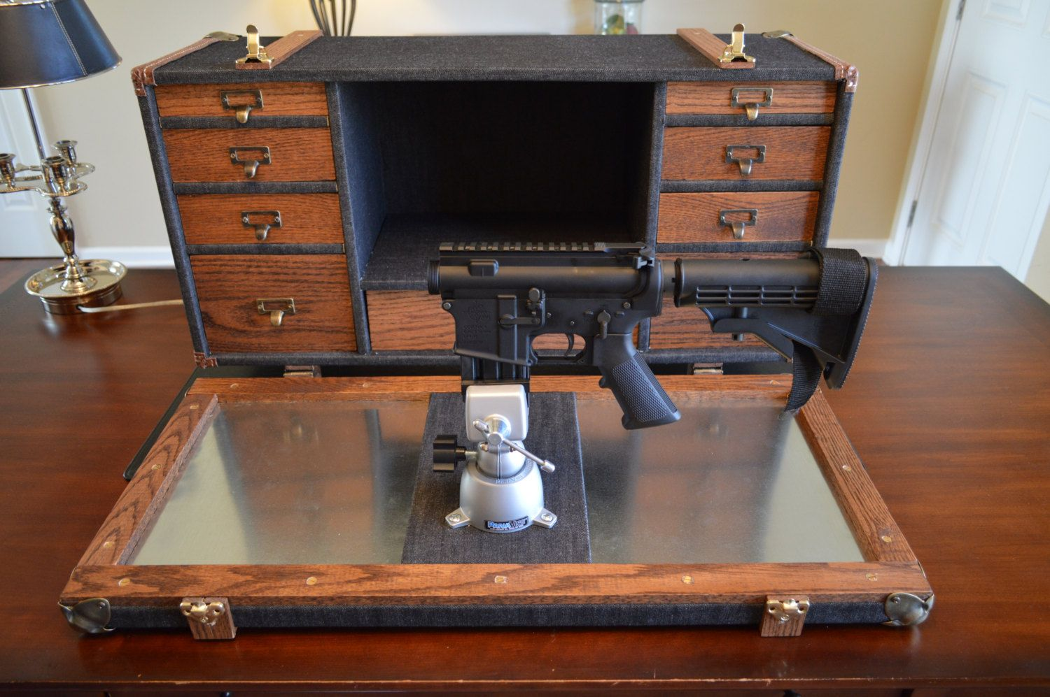 Buy A Handmade Steamer Trunk Gunsmith Workstation Made To
