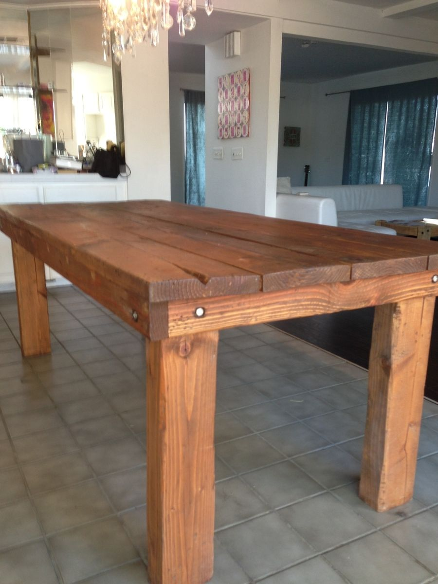 Hand Crafted Rustic Farmhouse Dining Table By Kalani Alii