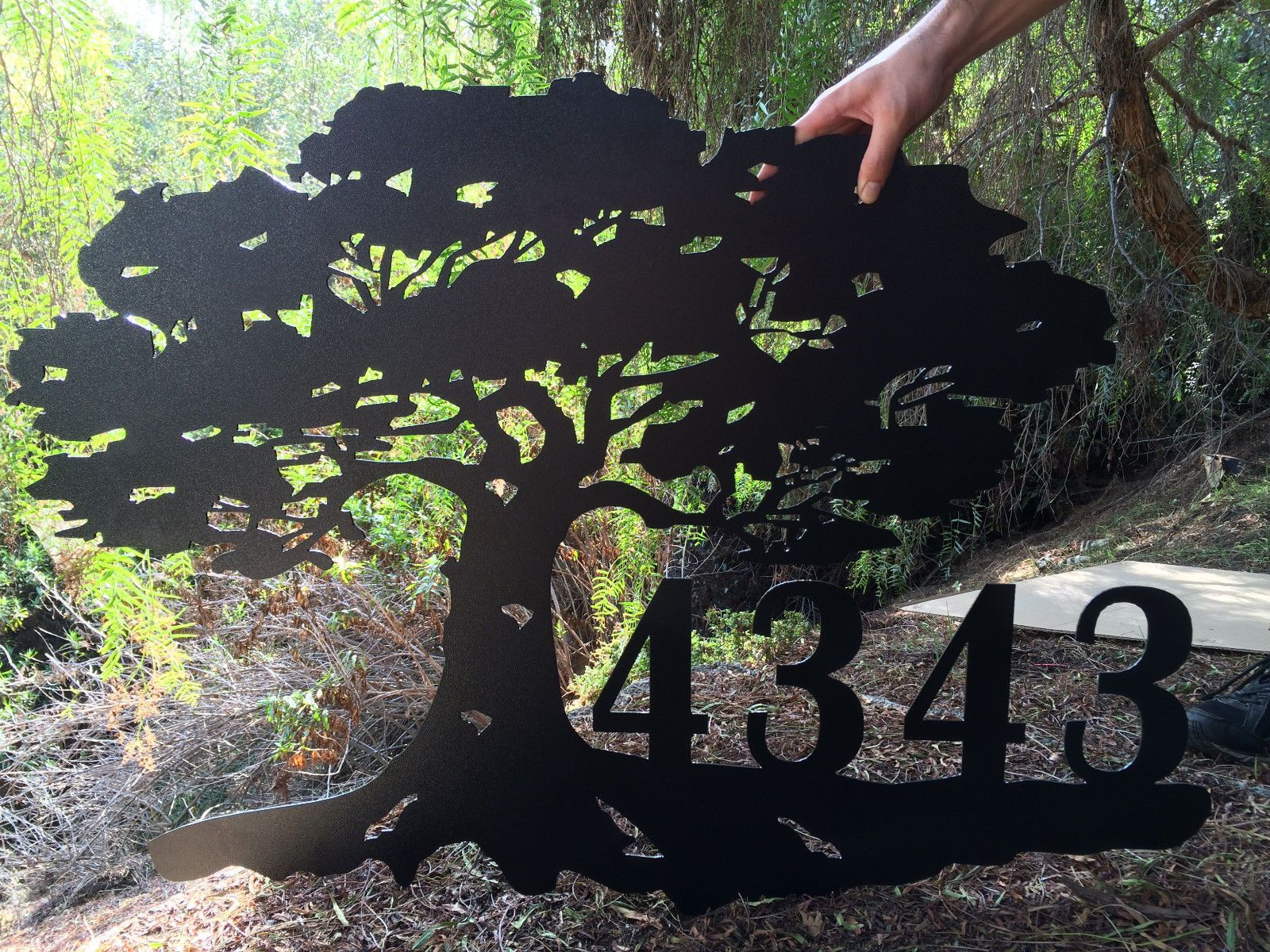 Buy A Hand Crafted Address Plaque Metal Extra Large Sign