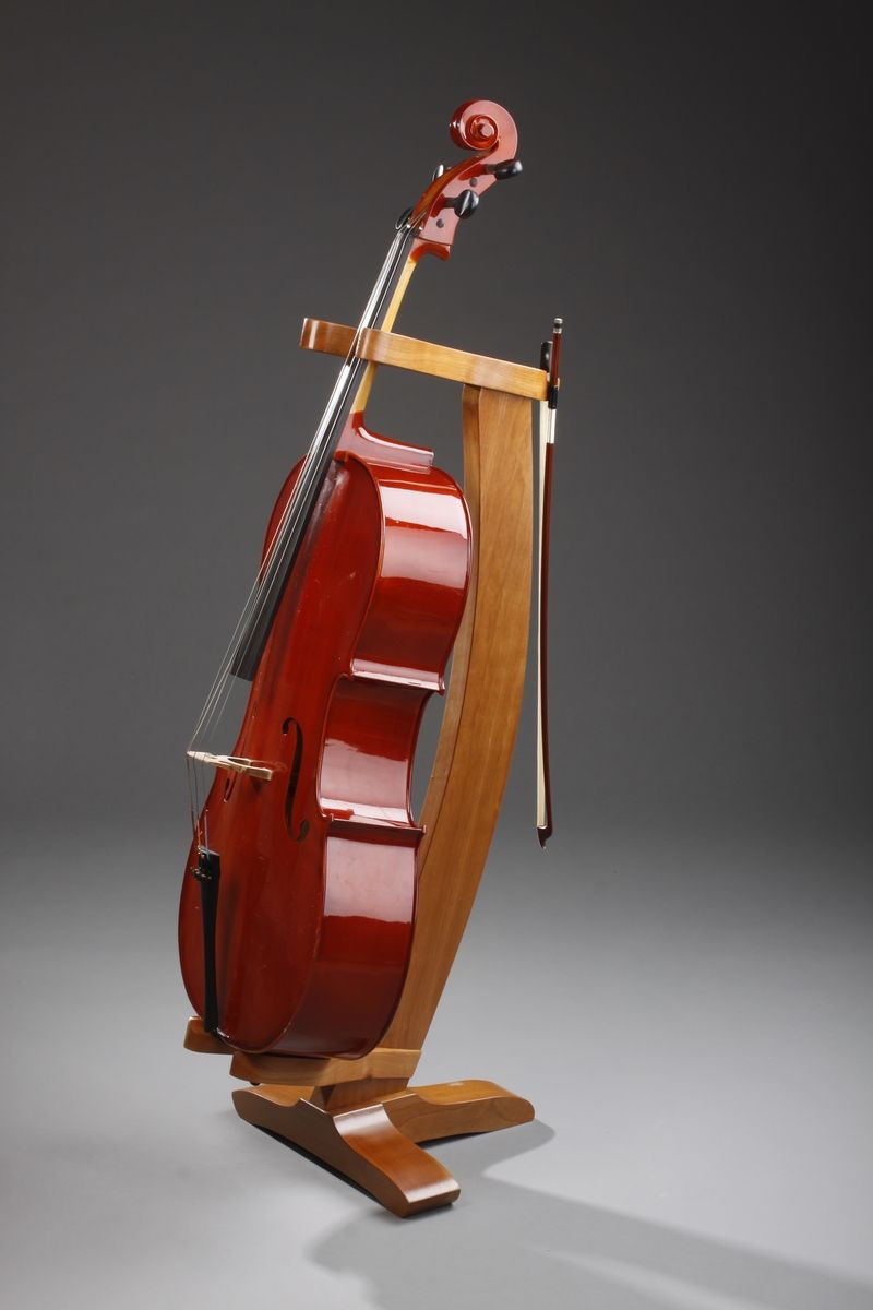 Hand Crafted Cherry Cello Stand By Nwb Woodworks