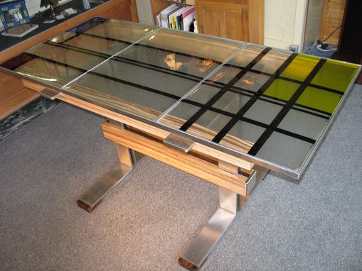 Custom Made Fused Glass Table