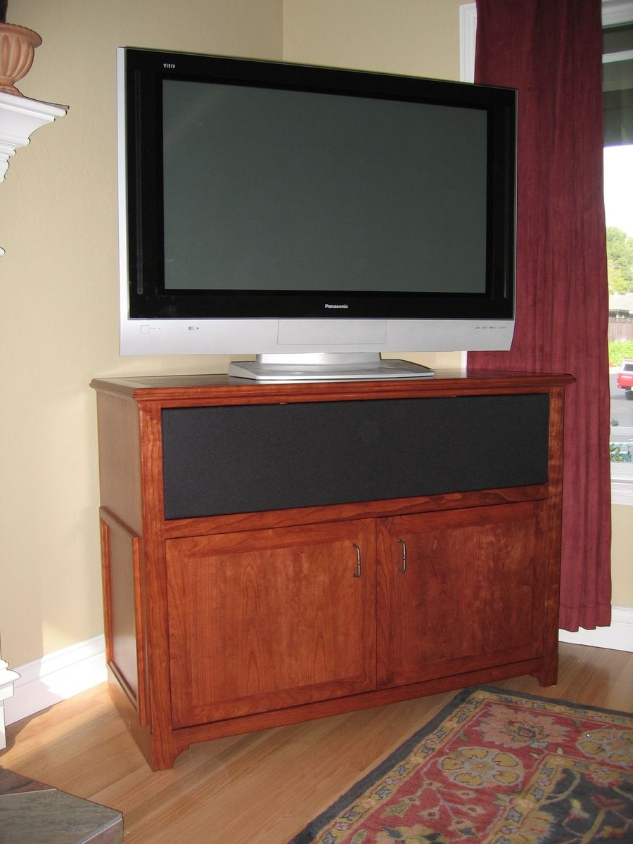 Hand made cherry tv stand by near west - Made com meuble tv ...