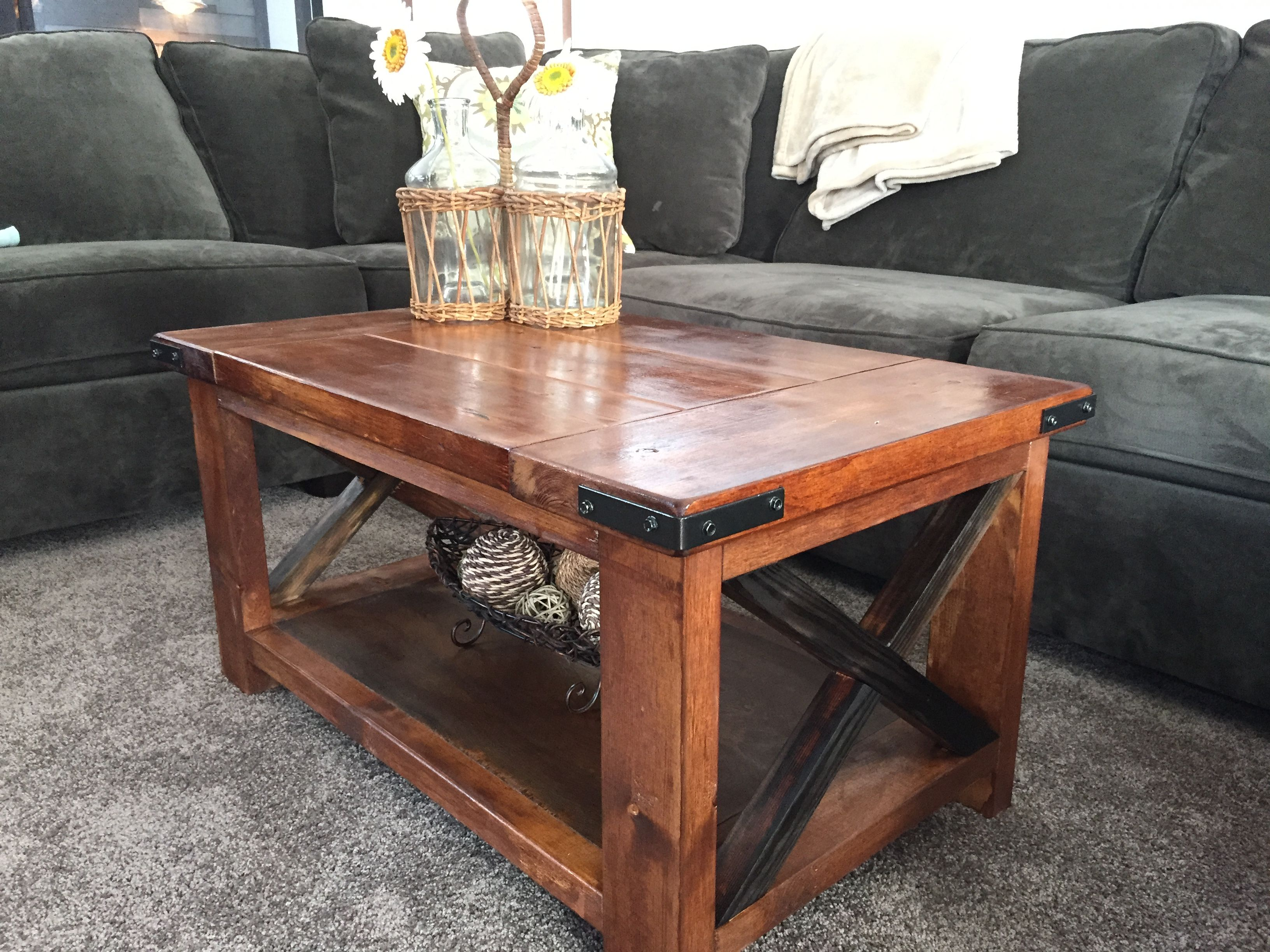 Handmade rustic coffee table by richter ranch custom for Rustic coffee table