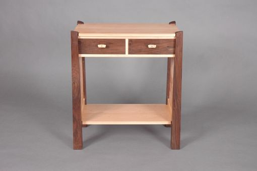 Custom Made Side Table - Two Drawers With Shelf