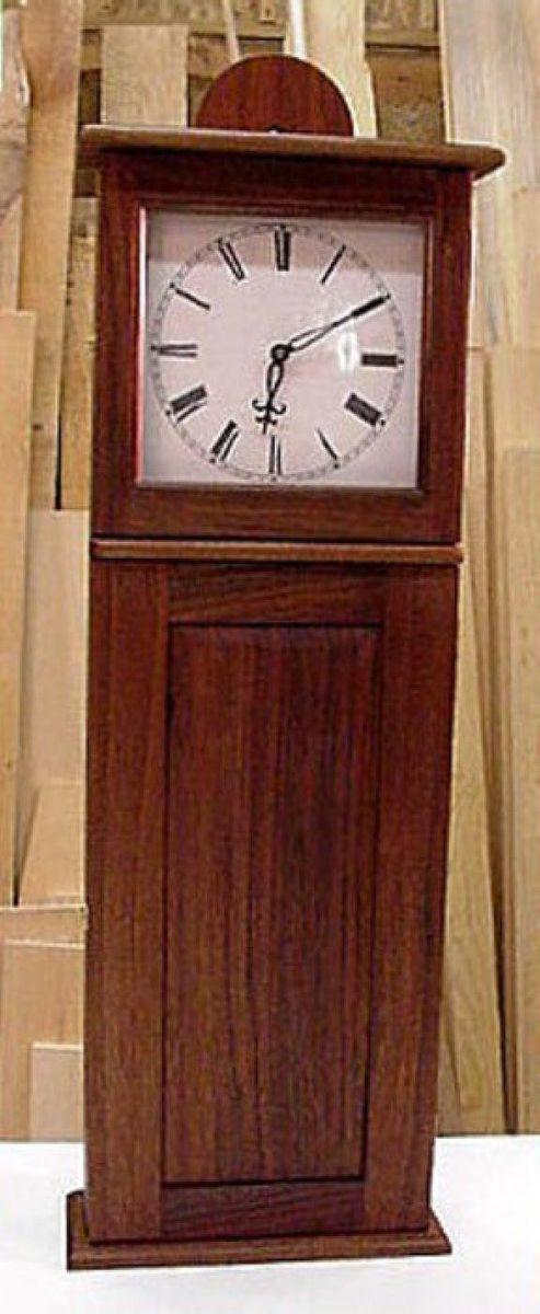 custom made walnut shaker style clock by artistic wood
