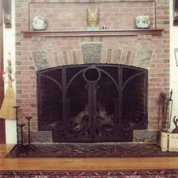 Custom Made Arts Crafts Style Fireplace Screen By Matthew Weinberger Metalsmith