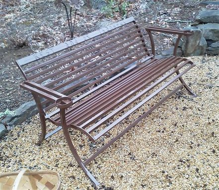Custom Made Metal Bench