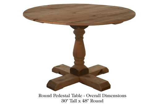 Hand crafted kitchen tables with different pedestals by for Different kitchen tables