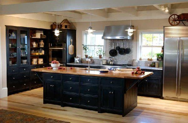Custom Made Milk Paint On Kitchen Cabinets By The Old