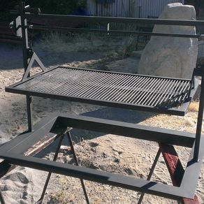 Hand Made Drop In Santa Maria Bbq Pit Grill By Jd
