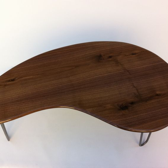 Mid Century Modern Coffee Table Kidney Bean Shaped Atomic: Buy A Hand Made Kidney Bean Coffee Table
