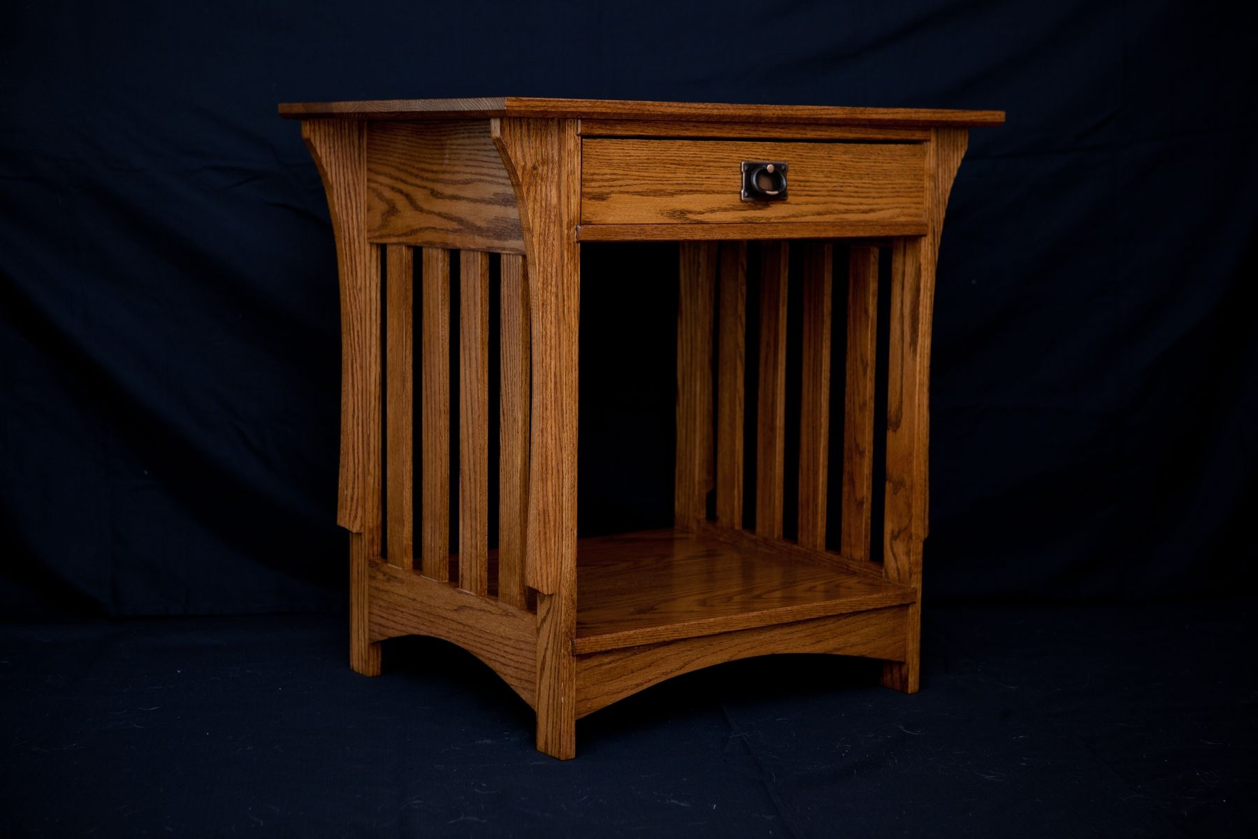 Handmade Mission Night Stand By Vintage Woodworks Of