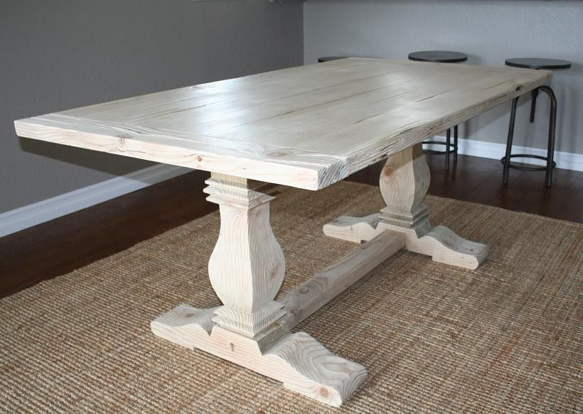 Custom Reclaimed Wood Trestle Table By Santini Custom