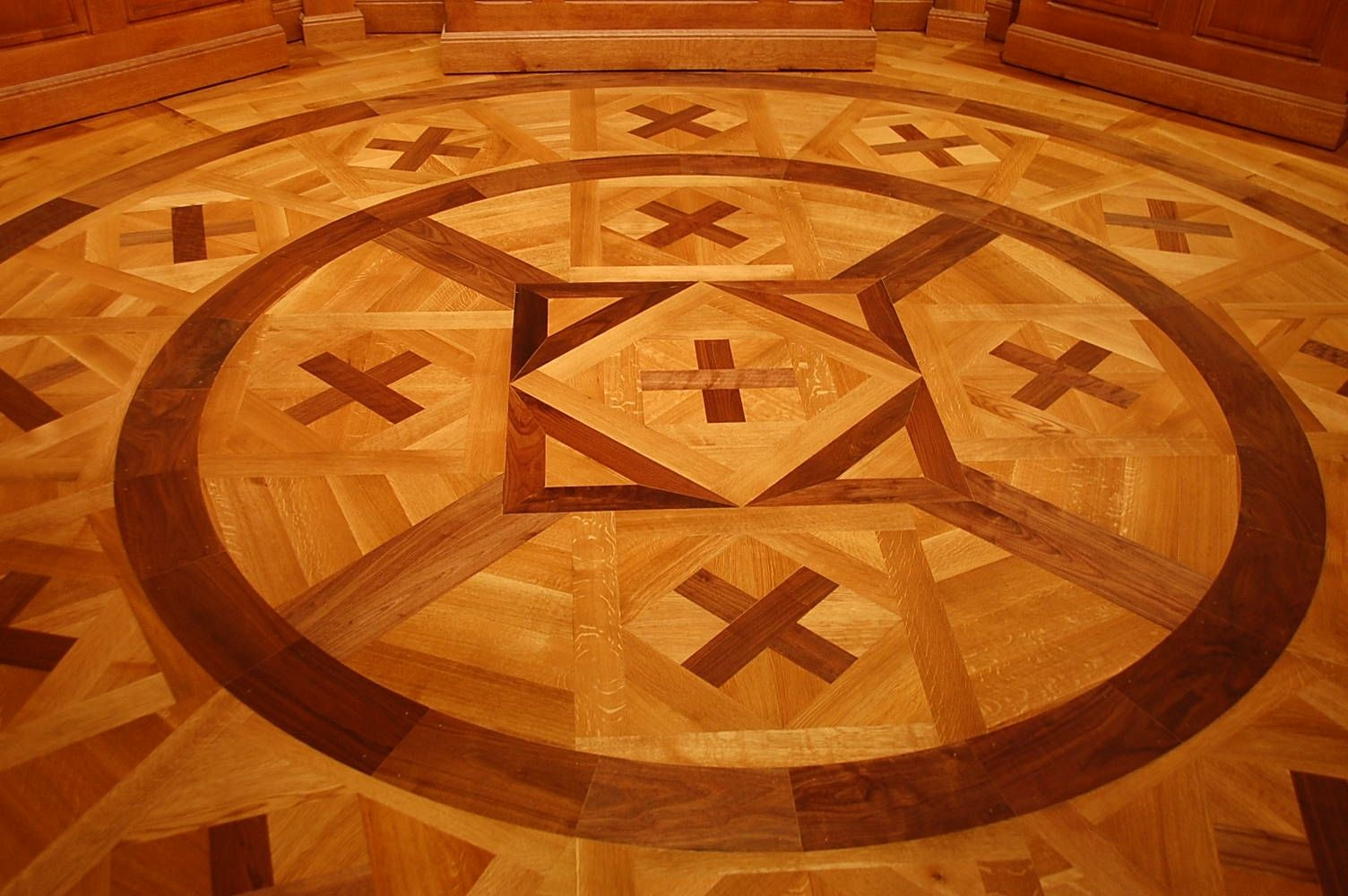 Hand Made Decorative Wood Floor Inlay By Corey Morgan Wood