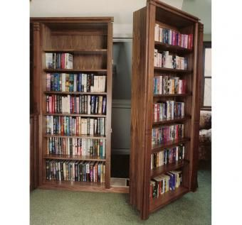 Custom Made Walnut Library