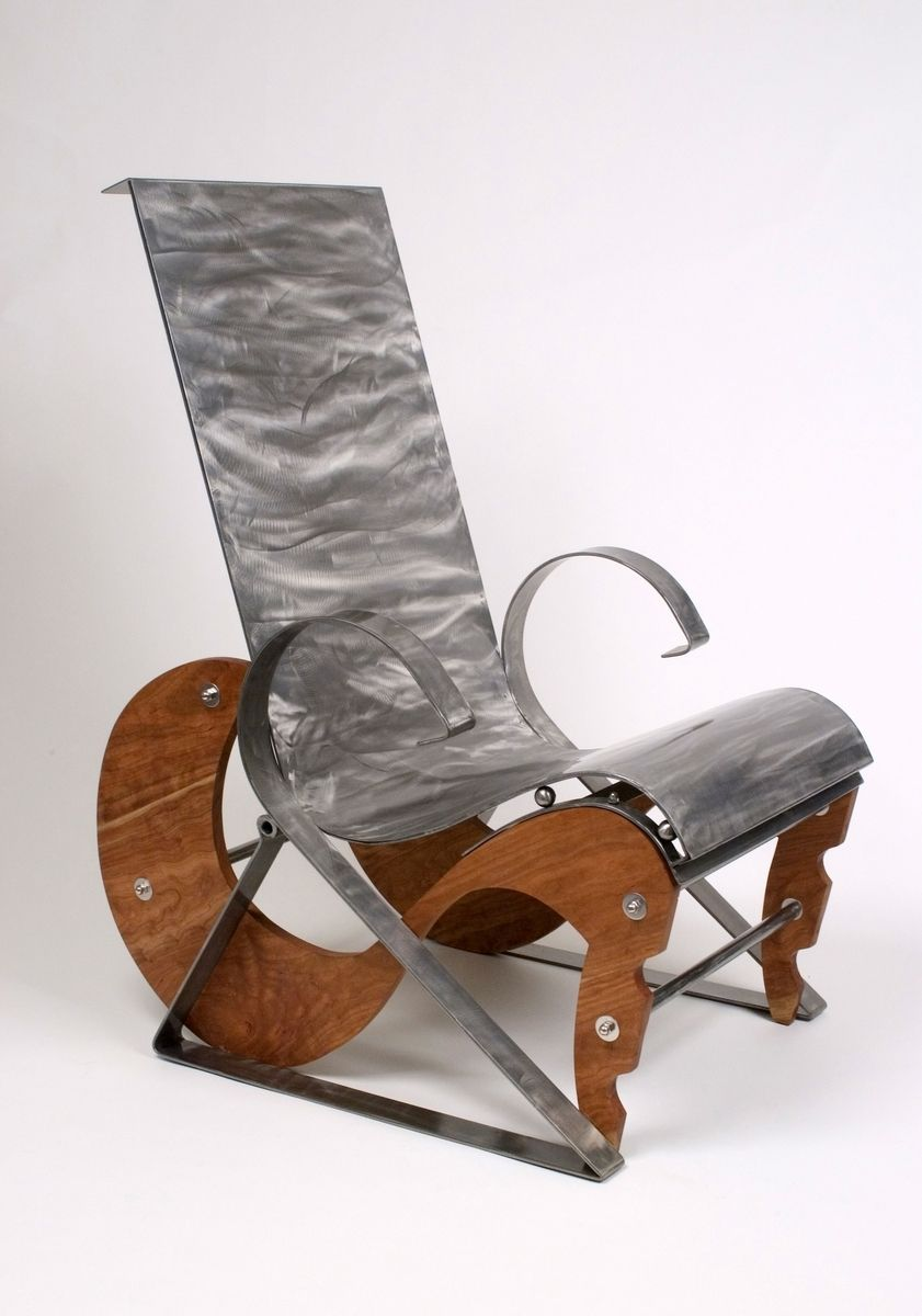 Hand Made Modern Unique One Of A Kind Metal Chairs By River Forge Gallery