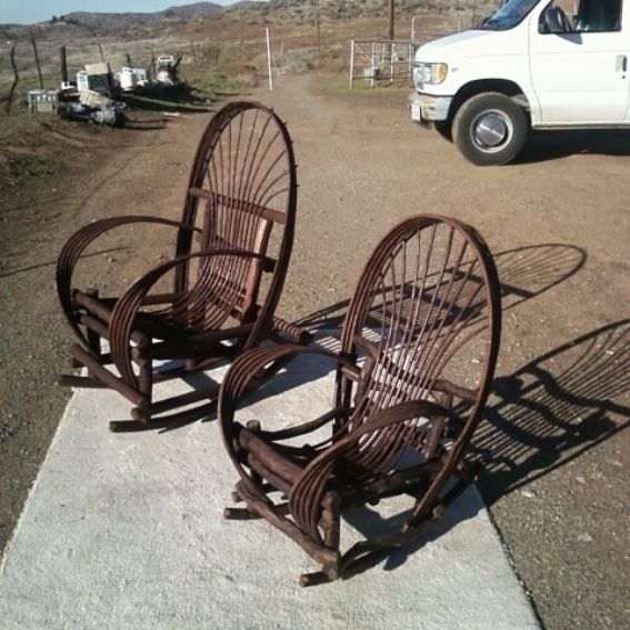Hand Made Bent Twig Willow Furniture Chairs Rockers By Wine Barrel Creations By Jim G Burgess