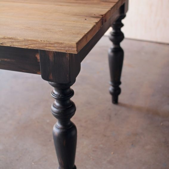 Custom Reclaimed Douglas Fir Scaffold Board Farm Table By
