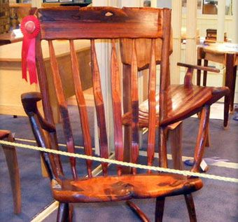 Custom Made Cocobolo Rocking Chair