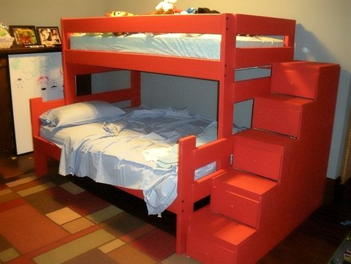 Hand Crafted Voc Friendly Bed With Staircase Storage By