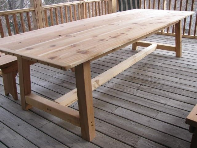 Handmade Large Outdoor Dining Table Cedar By