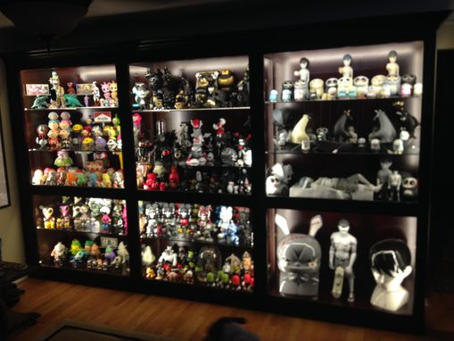 Hand Made Custom Built In Display Case By Black Swamp