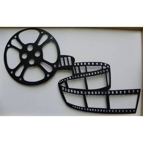 handmade home theater decor movie reel and film metal wall art by say it all on the wall. Black Bedroom Furniture Sets. Home Design Ideas
