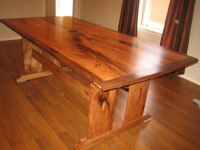 Custom Arts And Crafts Dining Table By Rockytop Woodworks