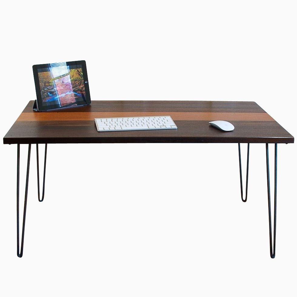 Buy a hand made mid century modern desk made to order from blowing rock woodworks - Custom office desk ...