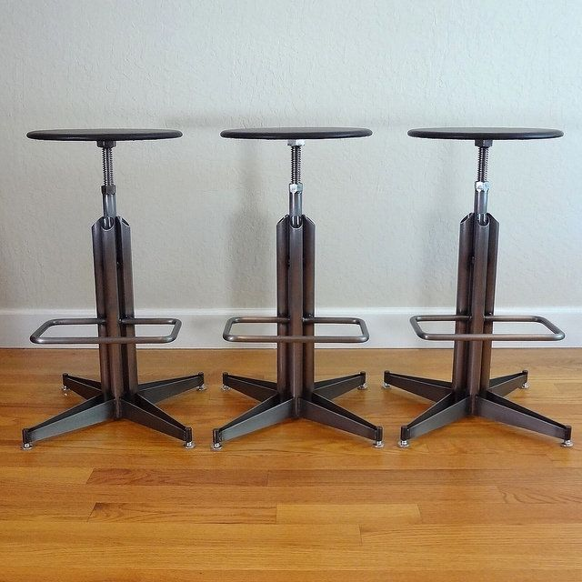 Empire Leather Wafer Top Stool