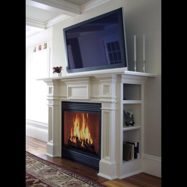 Custom Modern Antique Mantel A V Media Center By