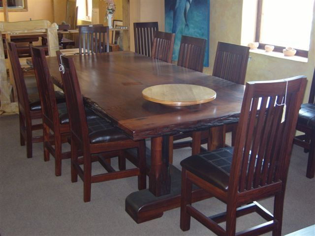 hand made dining table set 10 seat ironwood by african yellowood. Black Bedroom Furniture Sets. Home Design Ideas