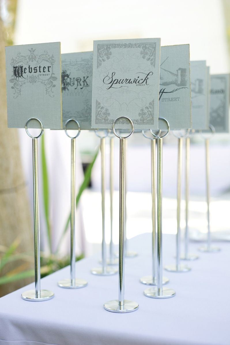 Hand made graphic design table name cards by by madeline for Table design names