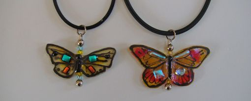 Custom Made Butterfly Pendants - Glass Fused Jewelry