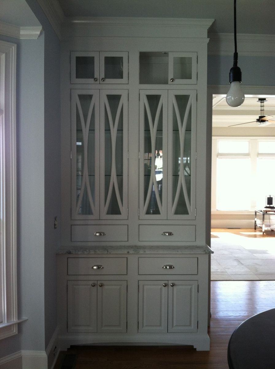 Hand made china cabinet with elliptical door mullions by clawhammer - Custom made cabinet ...