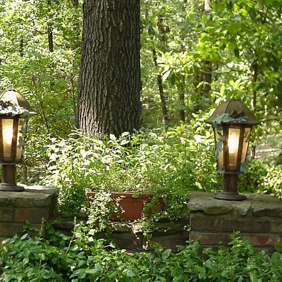 Custom Colonial Driveway Lighting By Toad's Tool Copper