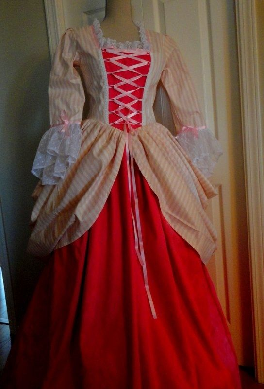 Hand Crafted 1700 S Vintage Style Wedding Gown Or