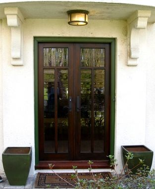 Hand crafted french doors entry by michael knepp for Unique exterior french doors