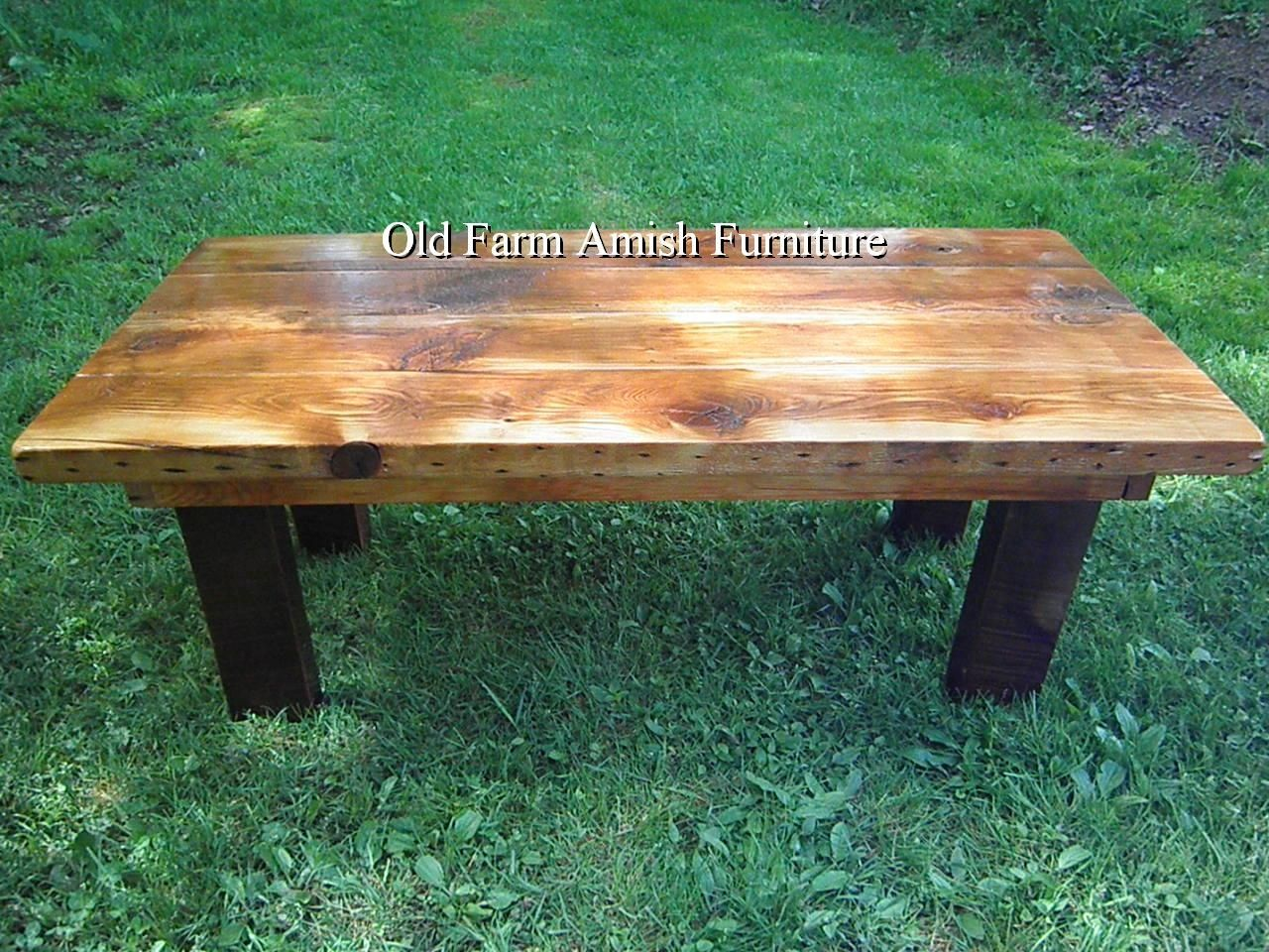 Hand Crafted Reclaimed Barnwood Coffee Table End Tables By Old Farm Amish Furniture Handmade