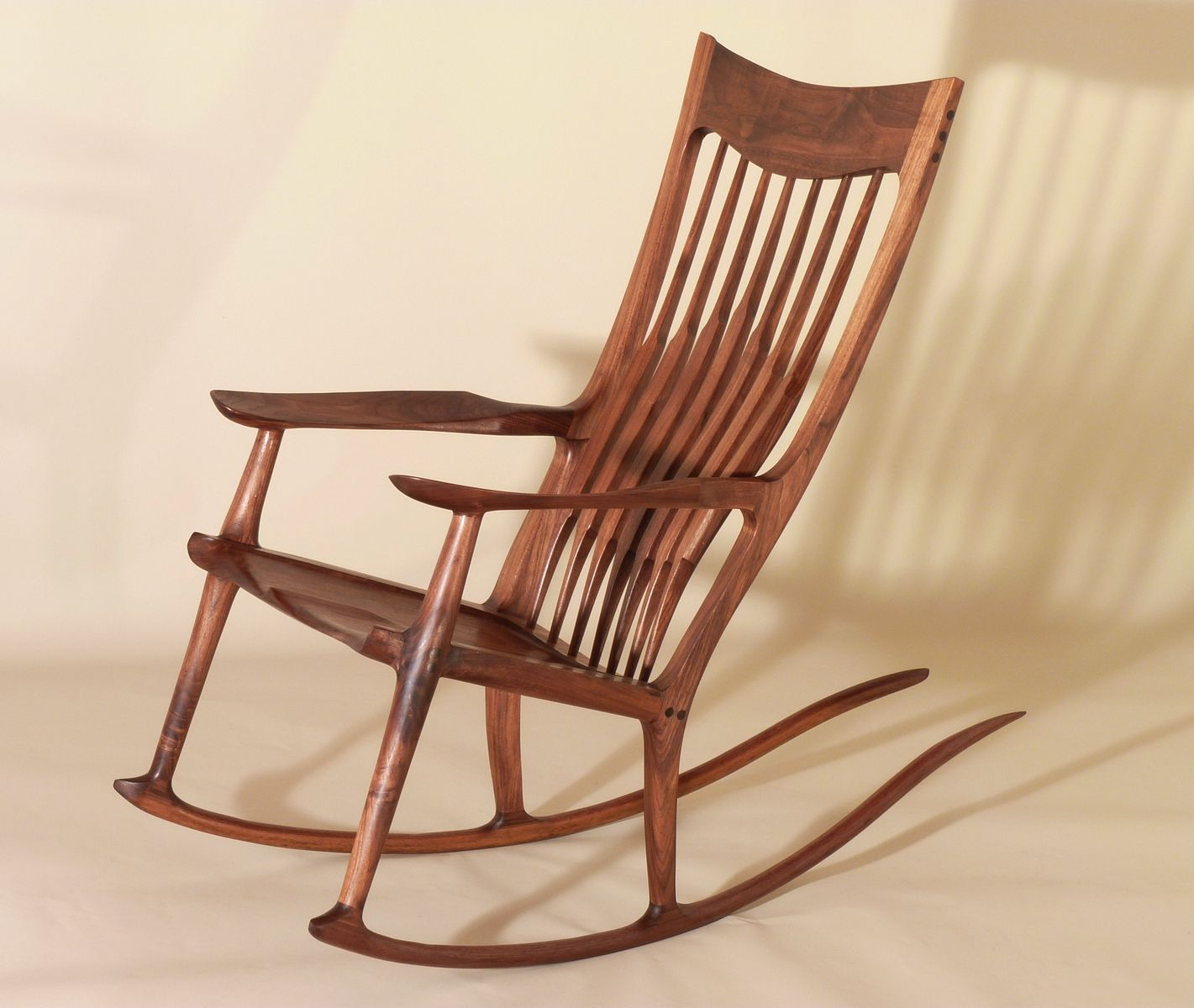 Hand crafted sam maloof style rocking chairs by j blok What are chairs made of