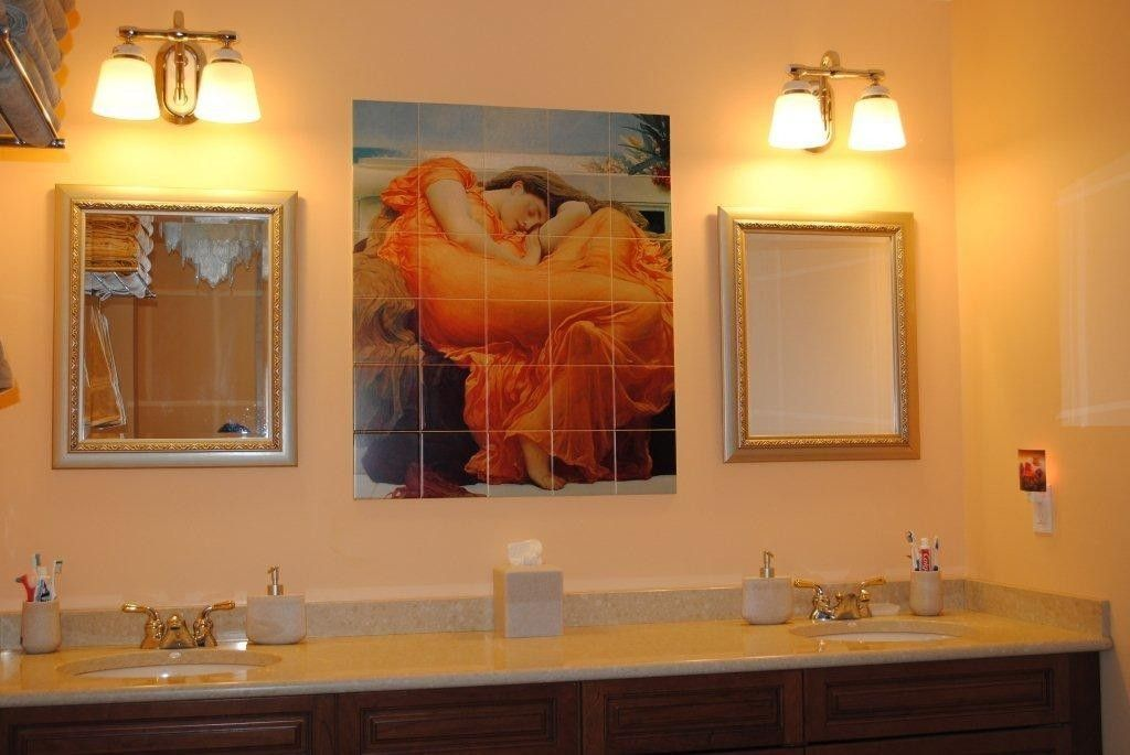 Hand crafted custom ceramic tile mural install 1 40 x for Custom tile mural