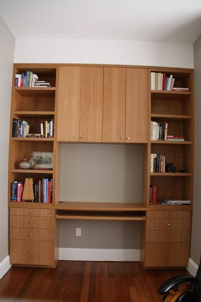 Custom Cherry Bookcase And Desk By Yeager Woodworking