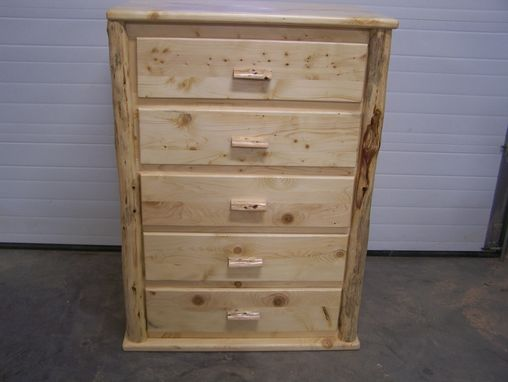 Custom Made Knotty Pine Chest Of Drawers