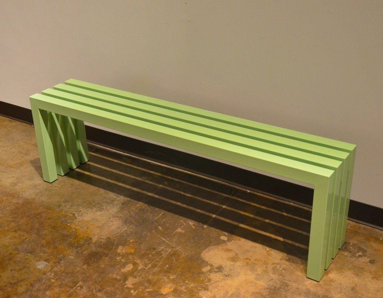 Custom Mint Green Bench By Sarabi Studio