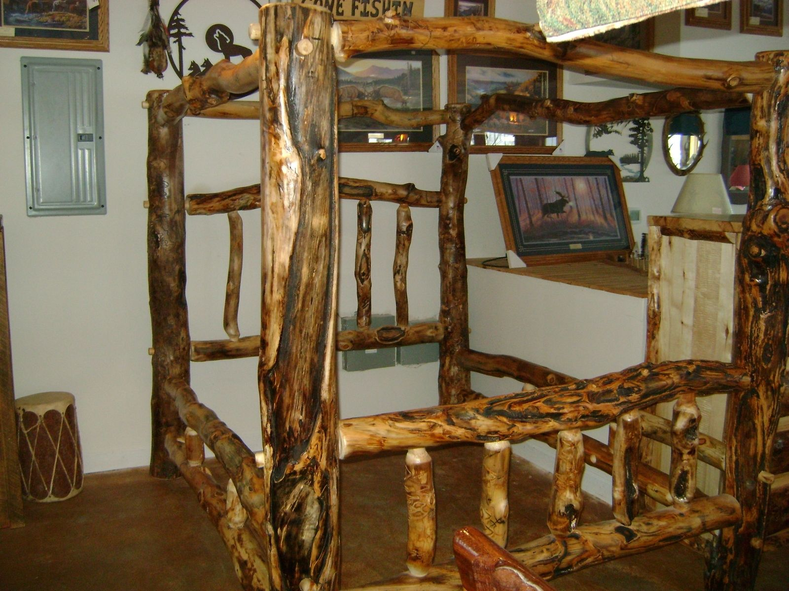 Hand Made Gnarly Aspen Log Canopy Bed By Ireland S Wood